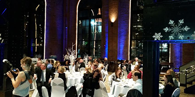 A Bride's DJ in Cleveland provided elegant uplighting for this wedding.